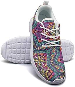 Mandala Abstract Pattern Wallpaper Girl Canvas Casual Shoes Sneakers Print Basketball Shoes