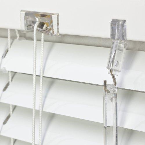 Alu Jalousie weiß - Breite 40 bis 240 cm - Höhe 130/160 / 220 cm - Tür Fenster Rollo Jalousette Aluminium Fensterjalousie Lamellen Metall