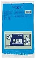 ジャパックス 業務用ポリ袋 20L P-21 0.030mm 青 10枚×60冊入