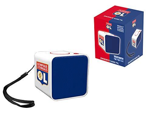Subsonic Enceinte portable sans fil compacte - Haut parleur mini bluetooth pour transport et exterieur - Puissance 3W - OL Olympique Lyonnais