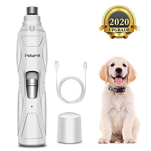 Dog Nail Grinder Upgraded - Professional 2-Speed Rechargeable Electric Pet Nail Trimmer Nail Grindder Painless Paws Grooming & Smoothing for Small...