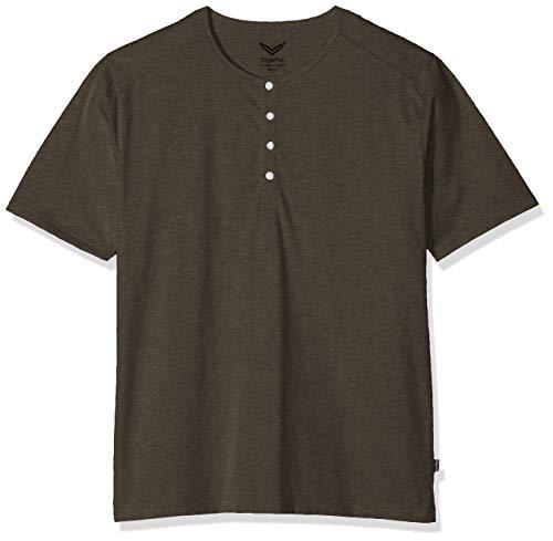 Trigema Herren 637204 T-Shirt, Beige (Taupe-Melange 628), XXX-Large (Herstellergröße: XXXL)