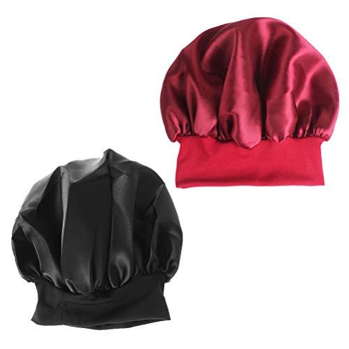 Lurrose Cappello da Notte Seta Cuffia da Notte per Capelli Donna 2pcs
