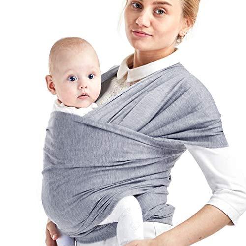 Phiraggit Babytragetuch Kindertragetuch, Atmungsaktiv Tragetuch Unisex-Babytrage Koala-Kuschelband-Babytrage für Neugeborene bis 20 kg Leicht zu Tragen (hellgrau)