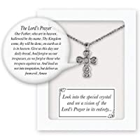 Cathedral Art, Silver Vision of The Lord's Prayer First Communion Small Cross Pendant 商品カテゴリー: レディース ネックレス ペンダント [並行輸入品]