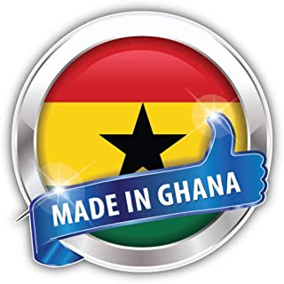 Craftmag Made in Ghana Glossy Vinyl Sticker Decal Outside Inside Using for Laptops Water Bottles Cars Trucks Bumpers Walls, 5