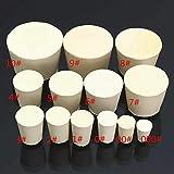 NLLeZ 5pcs / Set sólido Tapones de Goma Plug Tapones Botella Blanca de Laboratorio de Color Tubo Sellado en el tapón Corchos (tamaño : 52x43x 32mm)