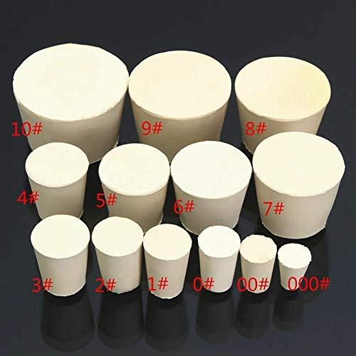 W-SHUFANG, 5Pcs / Set Vollgummi Stoppers Stecker Bondes Weiße Farbe Laborflasche Rohr verschlossen Deckel Corks (Größe : 52x43x 32mm)