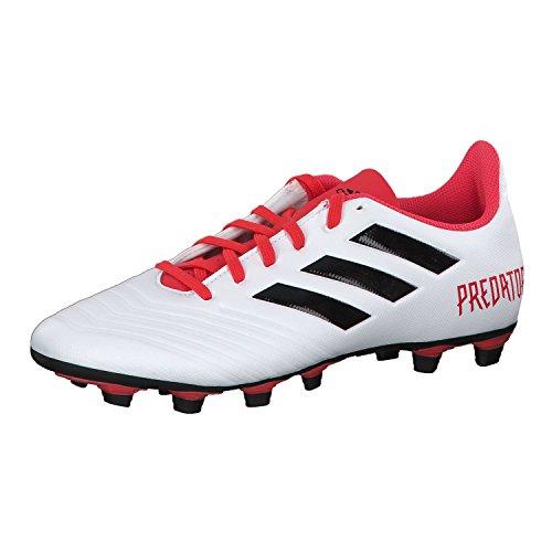 adidas Herren Predator 18.4 FxG CM7669 Fußballschuhe, Schwarz (FTWR White/core Black/real Coral S18), 40 2/3 EU