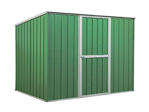 Notek Srl Box in Acciaio Zincato Casetta da Giardino in Lamiera 2.60 x 1.85 m x h1.92 m - 85 kg – 4,8 Metri Quadri (Verde)
