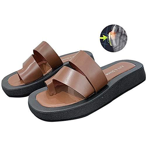Aly Sandalias juanetes Mujer,Sandalias Plataforma Mujer Cómodo Cuña Correctoras Juanetes Punta Abierta Zapatos Wedge Viaje Playa Verano