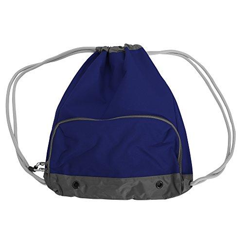 Bagbase Athleisure - Lot de 2 sacs de gym hydrofuge à cordon ATHLEISURE (Taille unique) (Bleu marine)