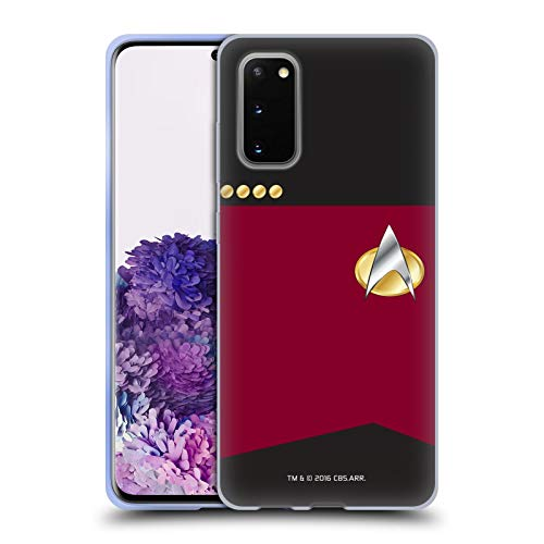 Head Case Designs Officially Licensed Star Trek Captain Uniforms and Badges TNG Soft Gel Case Compatible with Samsung Galaxy S20 / S20 5G