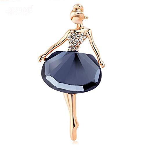 Broches De Cristal De Bailarina De Flores Para Niña De Gimnasia Para Mujer, Bonito Pin Bijouterie, Ramillete De Alta Calidad, Joyería De Boda De Moda, Azul3