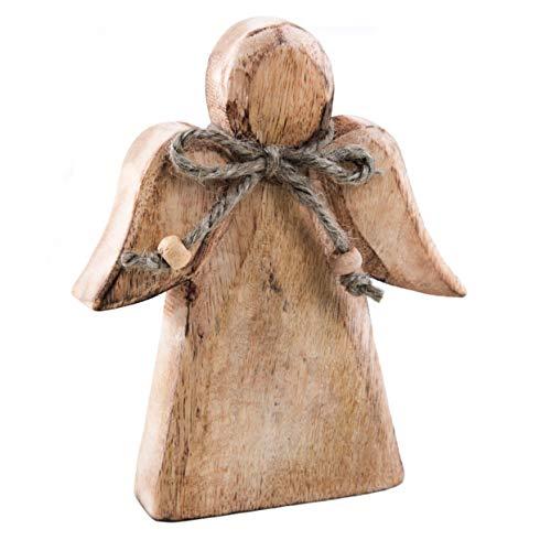 Logbuch-Verlag Holzengel Engel Figur Holz Schutzengel Weihnachten Glücksbringer Vintage Deko
