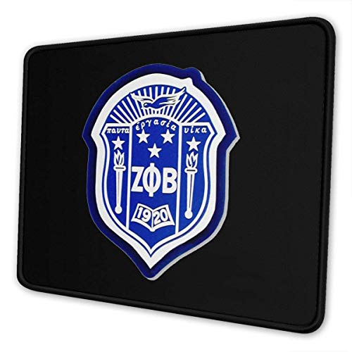 Zeta Phi Beta Mauspad Angepasste Mauspads rutschfeste Gummibasis Mauspads für Computer Laptop Office Mauspad für Laptop