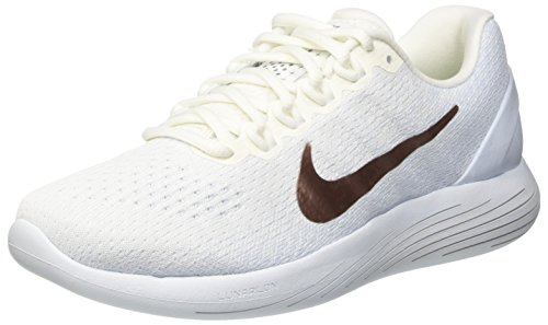 Nike Lunarglide 9 X-Plore Womens Running Shoe, Summit White/Metallic Red Bronze, 9.5 B(M) US