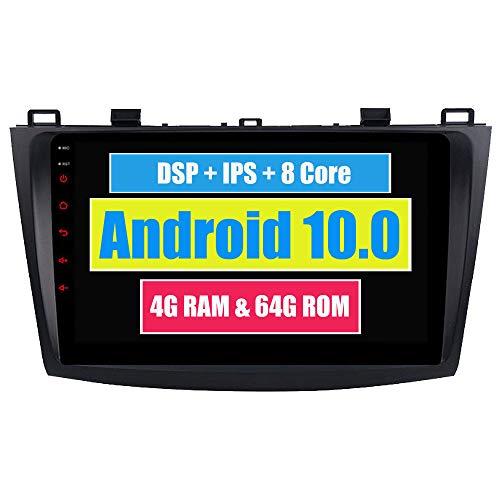 RoverOne 9 Pouces Système Android Octa Core Autoradio Lecteur GPS de Voiture pour Mazda 3 2010 2011 2012 avec GPS Radio stéréo Bluetooth Mirror Link Full écran Tactile