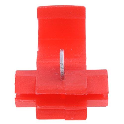 Sonline Terminales de cables 50pcs rapida Splice Conectores Lock Crimp electrica electrica - Rojo