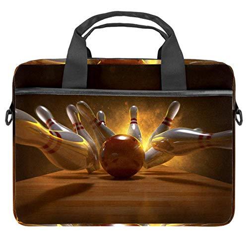 TIZORAX Laptop-Tasche, Bowling-Bälle, Notebooktasche mit Griff, 38,1 - 39,1 cm, Tragetasche, Schultertasche, Aktentasche