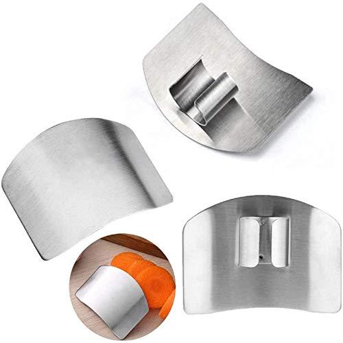 GYY Fingerschutz aus rostfreiem Stahl zum Schneiden und Schneiden von Handschutz Kochwerkzeuge zur Vermeidung von Verletzungen Fingerschutz, Küchen Fingerschutz, zum Schneiden und Schneiden in Küchen