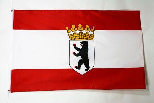 AZ FLAG Flagge Berlin 90x60cm - Berlin Fahne 60 x 90 cm - flaggen Top Qualität