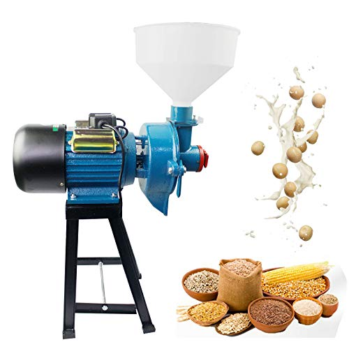 1400R / min 110V 2200W Electric Grinder Wet &Dry Feed Milling Refiner Mill Pulper 2in1 Grinding Machine Electric Commercial Grain Corn Wheat Mill Cereal With Funnel -  BEVOGIE