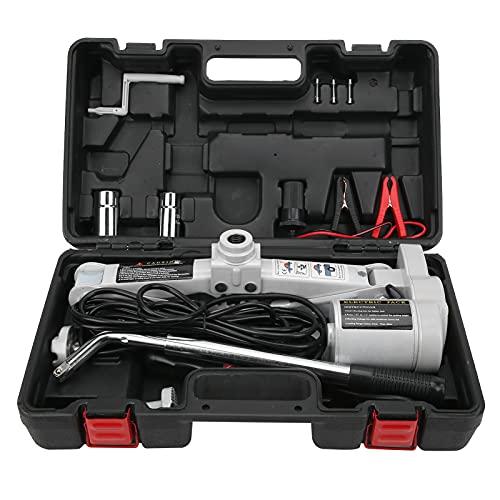 Fydun Gato Elevador, Elevador eléctrico Incorporado Altura de elevación 42 cm Elevador hidráulico con Llave para neumáticos Universal Acero Inoxidable ABS 3T 12V para sedán SUV