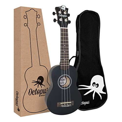 Octopus UK200D-BK - Ukelele soprano, color negro mate