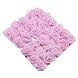 WXL Flores falsas de 10/20/30 piezas de 8 cm de espuma de polietileno para decoración del hogar, bodas, flores artificiales para ramo de novia (color: rosa claro, tamaño: 30 piezas)