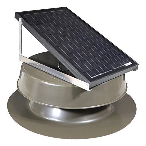 Natural Light Solar Attic Fan 32-watt Bronze