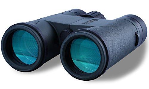 Jeddah JY58x42 Binocular with Premium Bak4 Prisms and Free Carry Case   FMC Waterproof Fogproof Compact Binoculars   for Birdwatchers Travel Sports Nature Viewing Hunting Green