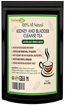 Kidney Cleanse Detox Tea| Kidney Support Supplement with Parsley, Juniper Berries, Cleavers herb for Urinary Tract and Bladder Health - Organic Natural Herbal Flush Formula |USDA | Made in USA by Earths Path