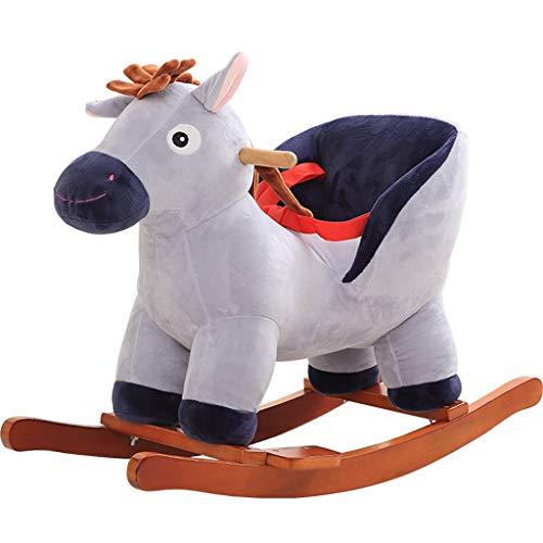 YULAN Trojaans paard schommelpaard met muziek schommelstoel baby verjaardagscadeau comfortabel zitten, veilig en stabiel
