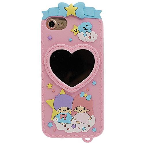 Diseñado para iPhone 7 / 8 Funda de Silicona con Espejo, Case para Niña Mujer Rosa Carcasa Protectora Suave Elástico Drop-Protección Absorción de Impacto Antigolpes iPhone 7 / 8 Case 4.7 Pulgadas