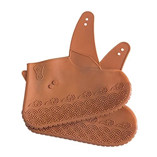 PersonukXD - Fundas de silicona para zapatos – impermeables, antideslizantes, resistentes al agua, a la lluvia, a prueba de nieve, botas de lluvia, protectores de lluvia, galoshes para todo el mundo