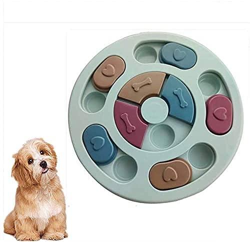 mianyang Hunde-Puzzle-Spielzeug für Haustiere, intelligentes interaktives Spielzeug, beiß- und rutschfest, verbessert den IQ langsames Fressen, um EIN zu schnelles Fressen zu verhindern (blau)