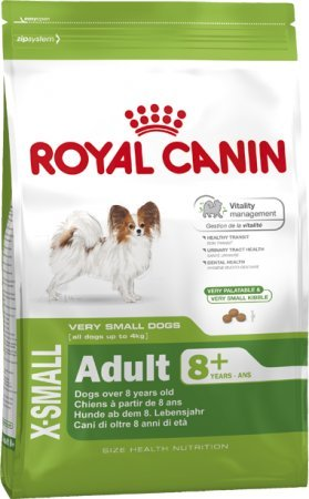 ROYAL CANIN Hundefutter X-Small Adult 8+, 500 g, 2er Pack (2 x 500 g)