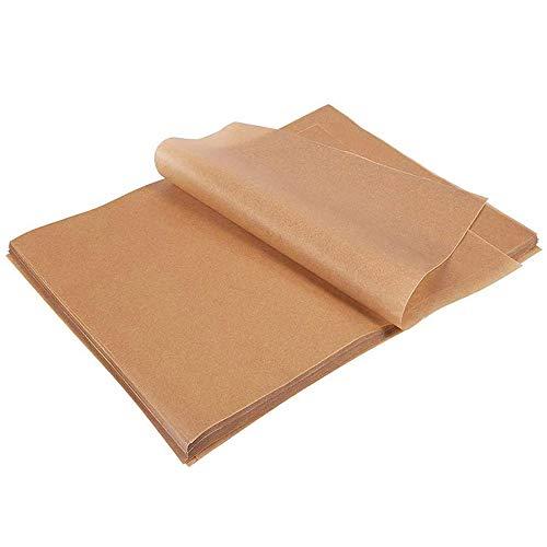 yyuezhi 100 Hojas Hojas de Pergamino para Hornear Reutilizables Bandeja para Hornear Forro Pergamino Antiadherente Papel de Aceite de Silicona para Hornear Hornear Pergamino (30x40cm)