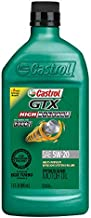 Castrol 06148 GTX High Mileage 5W-20 Synthetic Blend Motor Oil, 1 Quart, 6 Pack