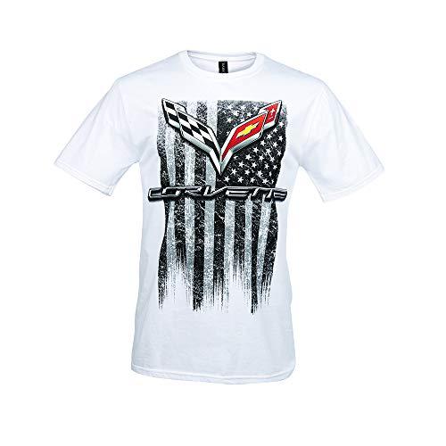C7 Corvette American Legacy Men's T-Shirt (Medium, White)