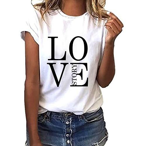 TWIFER Logo Sommer Shirt Damen Mädchen Plus Size Gedruckt Tees Shirt Kurzarm T Shirt Bluse Tops
