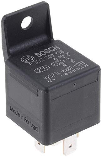Bosch 0332209138 Mini-Relais 12V 30A, IP5K4, Betriebstemperatur von -40° C bis 100° C, Wechselrelais, 5 Pin Relais