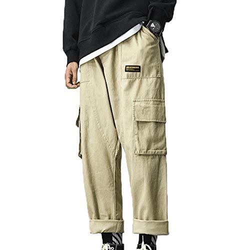 Pantalones Cargo para Hombre, Holgados, cómodos para Primavera y otoño, Pantalones duraderos, Pierna Ancha, Pierna Recta, Pantalones Salvajes, Monos