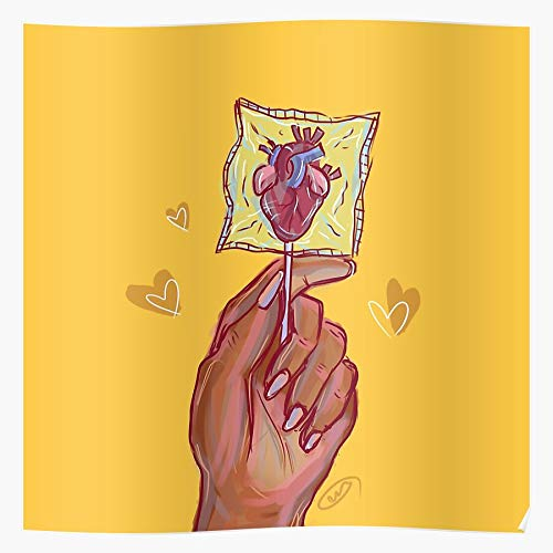 JAEUNJANG Lollipop Pun Candy Day Valentines Valentine Anatomy Kinesiology Heart The Most Impressive and Stylish Indoor Decoration Poster Available Trending Now