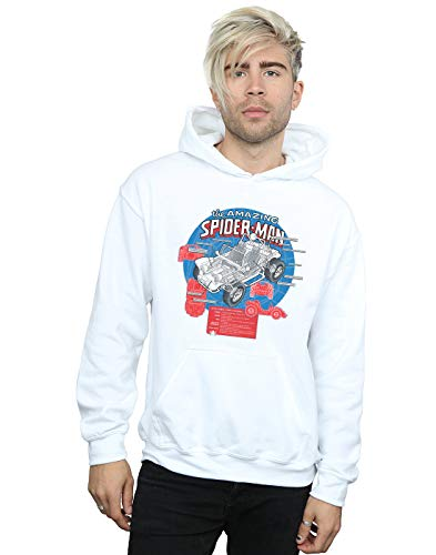 Marvel Hombre Spider-Man Spider-Buggy Breakdown Capucha Blanco Small