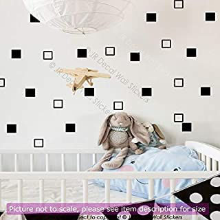Square shape 5cm, Removable Vinyl Wall Decals, Kid's Room Decor, Girls Bedroom Decor, Nursery Room Vinyl Wall Stickers