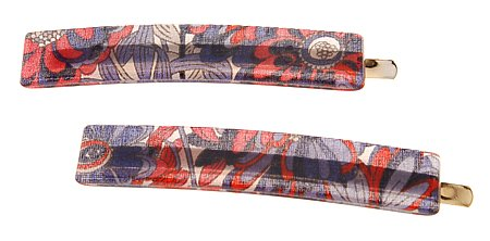 France Luxe Mod Bobby Pin Pair Splash NEW before selling Garden Ranking TOP15 Red Blue -