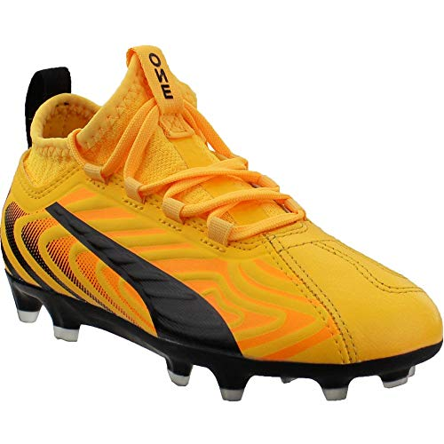 PUMA Kids Boys One 20.3 FGAG Soccer Cleats - Yellow - Size 1...