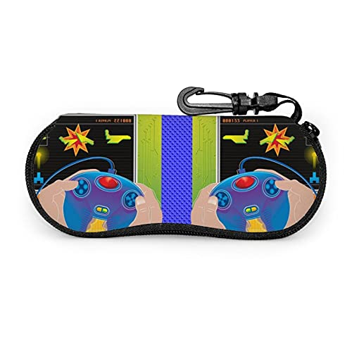 Estuche Protector Unisex para Jugadores de Videojuegos, para Gafas, Lentes de Sol, Estuche Blando, Estuche para anteojos con Cremallera, con Clip para cinturón